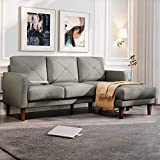 Belffin Convertible Sectional Sofa Couch with Chaise L Shaped Sofa Couch Reversible Sofa Couch Grey