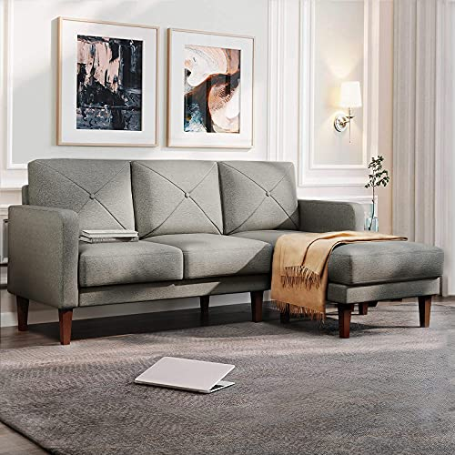 TITLE_Belffin Convertible Sectional Sofa Couch with Chaise