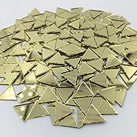 12mm 三角形ミラーモザイクタイル ゴールドクラフトミラー 120個