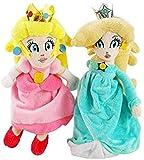 DINGX Super Mario Plüschspielzeug Mario Open Hand Pfirsich Gefüllte Plüsch Puppe Princess Blue Rosa Orchidee Chuangze