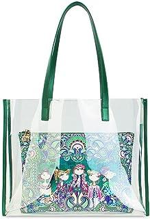 MASHUANG Modisch Original Klare Einkaufstasche für Frauen, 2021 Sommer Mode wasserdichte Sanddichte Strandtasche, große Um...