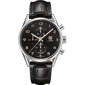 Tag Heuer Carrera Calibre 1887 Chronograph Automatic Black Dial Mens Watch CAR2014.FC6235