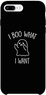 365 Printing What I Want Ghost iPhone 7 Plus Case Black Halloween Case Gift Idea