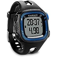 Garmin Forerunner 15 - Reloj de running GPS y rastreador de actividad, color negro y azul, grande (reacondicionado certificado)