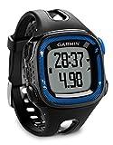 Garmin Forerunner 15 - Reloj de running GPS y rastreador de actividad, color negro y azul, grande (Reacondicionado)