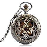 LYMUP Reloj de Bolsillo, Simetría de Tallado Relojes mecánicos...