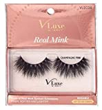 Kiss Vluxe Real Mink Lashes Champagne Pink