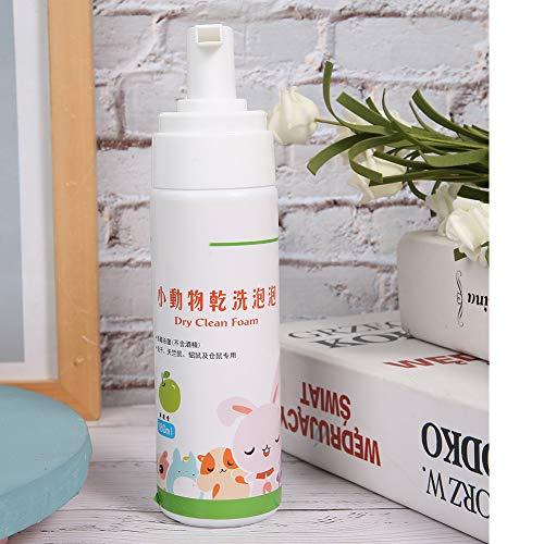 Taidda- Rabbit Dry Cleaning Foam, chemischer Reinigungsschaum, 180 ml tragbarer Hamster für chemische Reinigung Rabbit Dry Cleaning Foam Pet Supplies(Apple Flavor)