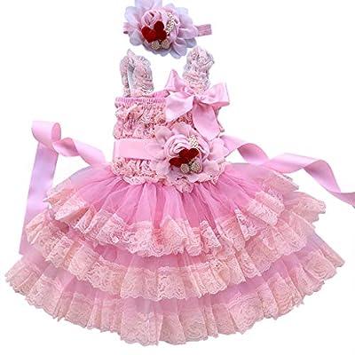 Rosy Kids Girl's Vintage Chic Flower Girl Lace Dress Flower Sash Hair Flower