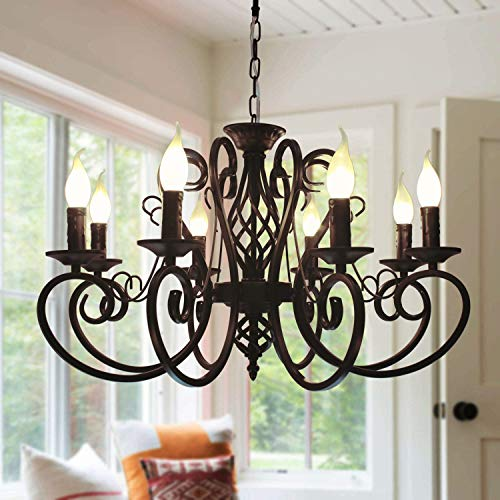 Ganeed French Country Chandeliers,8 Lights Kitchen Island...
