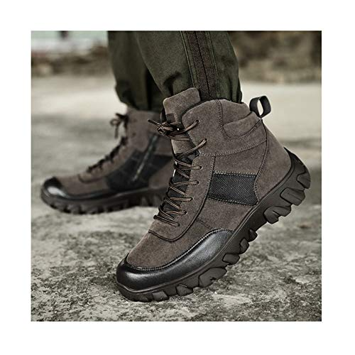 Winter Trekking Shoes Tactical Boots,Military Combat Boot ,Men Army Hunting Camping Mountaineering Shoe,Grey-47