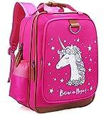 Backpack Unicorn for Girls 15' | Pink Kids School Bag for Kindergarten or Elementary Book Bags