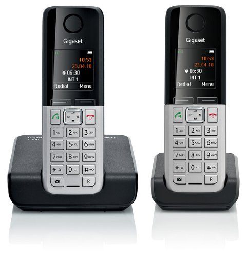 Siemens Gigaset C300 DUO analog Telefon mit gesamt 2 Mobilteilen – schnurlos - Freisprechen Adressbuch für 250 Eintraege - ECO DECT