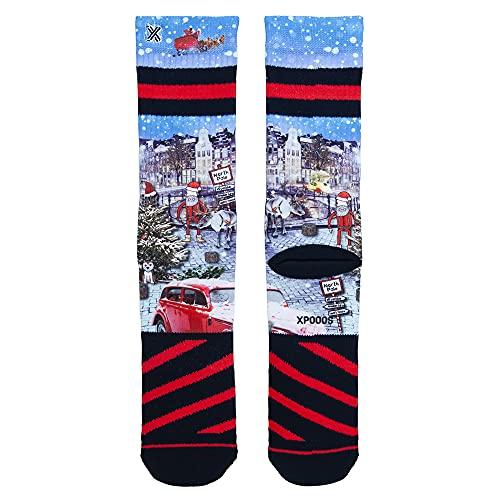 XPOOOS Xmas Luke Canals Socks Calcetines, Multicolor, 43-46 de los Hombres