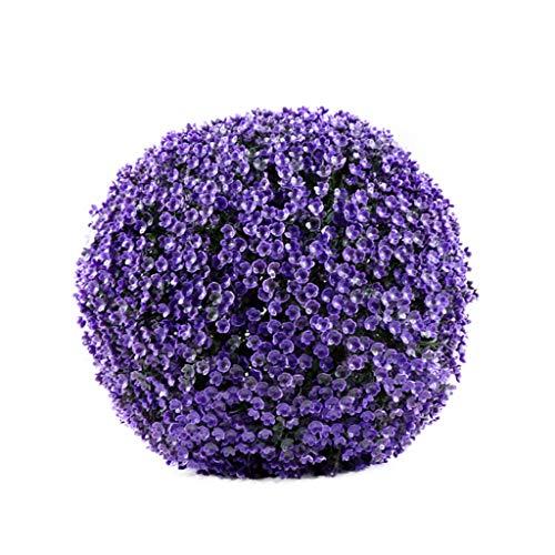 LXLTL Buchsbaumkugel Grün, Indoor & Outdoor Garten Deko Buchsbaum Kugel Simulation Grasball Gehoben Kunststoff Erdnussgrasball Das Einkaufszentrum Dekoration,E,30cm