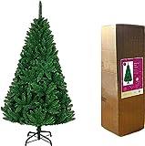 SHATCHI 3 m Verde Bushy Imperial Pine Artificial Deluxe Árbol de Navidad Ramas con bisagras 2516 Puntas de lápiz con Soporte de Metal Decoraciones para el hogar, plástico, 300 cm