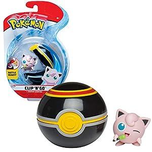BANDAI - Pokémon-Poké Ball & sa Figura 5 cm Rondou, WT97640