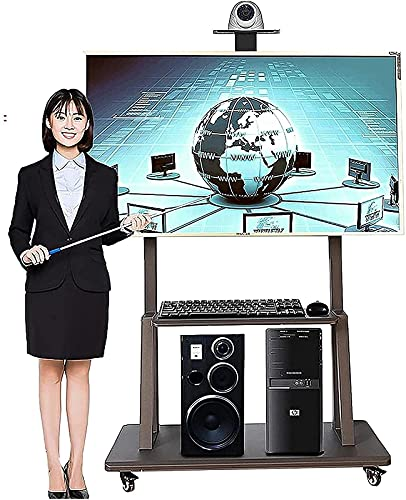 BNFD Upgraded TV Stand For 50+ Inch TV On Wheels,TV Bracket Stand Floor Rolling TV Cart with 2 Shelf TV Display Stand