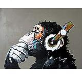 FVNR DIY pintura por números para adultos DIY Lienzo Set de arte de pared GiftmusicEnhance Hands-On Hability16 x 20 pulgadas sin marco