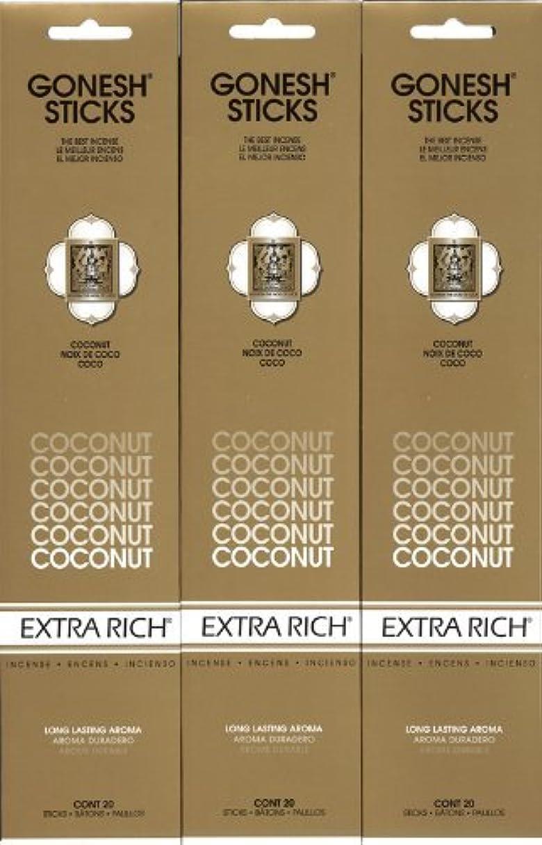 実際にフィット渦GONESH  COCONUT ココナッツ スティック 20本入り X 3パック (60本)