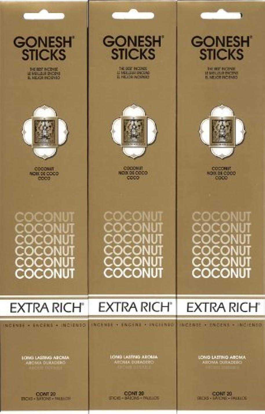 流暢達成可能賛辞GONESH  COCONUT ココナッツ スティック 20本入り X 3パック (60本)