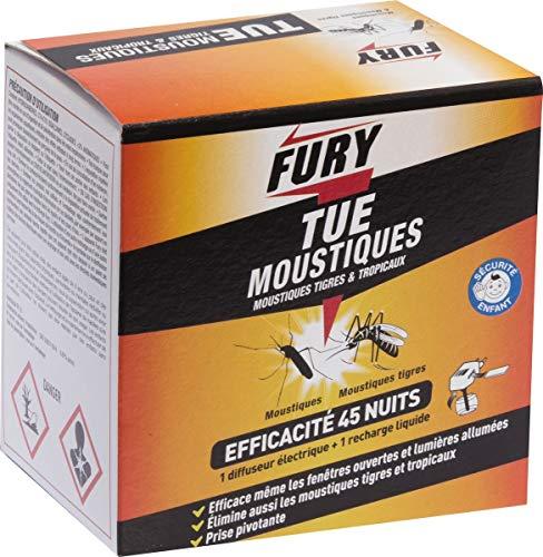 PROVEN ORAPI Fury Volants diffuseur 45 Nuits +Recharge, Blanc, 10 x 11 x 7 cm
