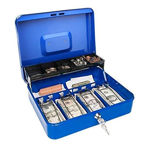 MNAD Caja de Efectivo en Escala portátil for Dinero 4 Bill 5 Caja de Almacenamiento de Monedas Llave de Bloqueo de la Bandeja de Efectivo