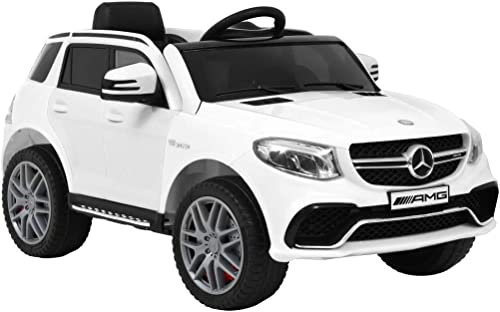 Arichtop Compatible for Kinderauto Mercedes Benz GLE63S Kunststoff Weiß