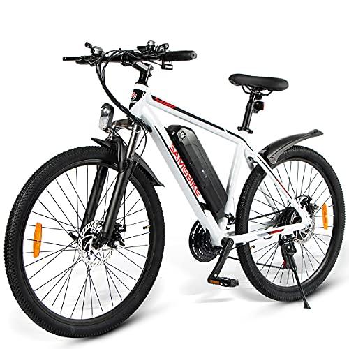 SAMEBIKE 26 Zoll Ebike Mountainbike, Elektrisches Mountainbike 350W 36V 10AH, Mountainbike für Erwachsene, Elektrische Fahrräder Herren Damen I Shimano 7 Gang-Schaltung I mit LCD Instrument