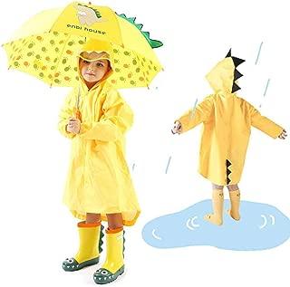 Zinniaya Dibujos Animados creativos Pato de Lluvia Sombrero Plegable para ni/ños Chubasquero Paraguas Cabo Capa de Lluvia Lindo Capa Universal para ni/ños ni/ñas