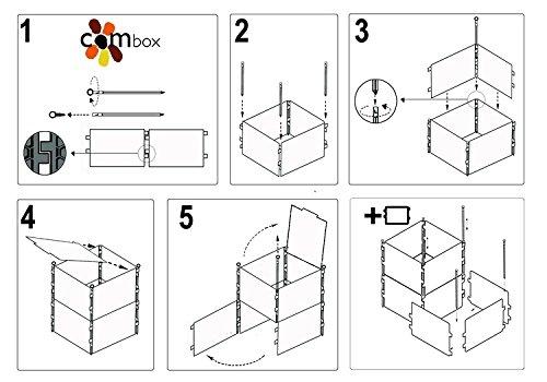 Base perforada + Bandeja para Modulo Compostador Combox (60x60cm)