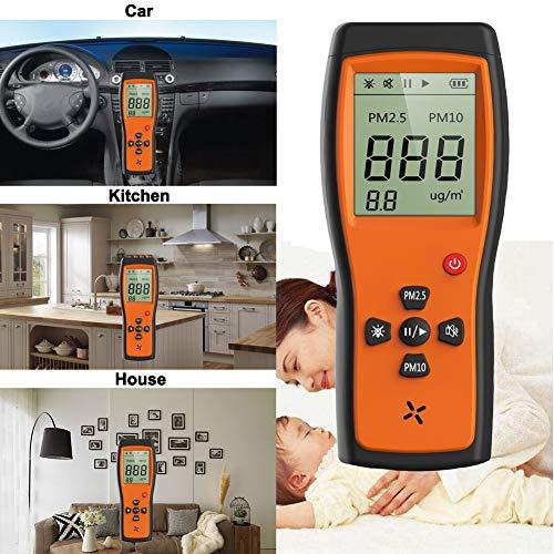 P1000 Air Quality Monitor PM2.5 PM10 Formaldehyde CO2 TOVC Temperatura Detector de la calidad del aire utilizado para interiores Cocina Automóvil y ambiente trabajo especial con pantalla LCD VA grande