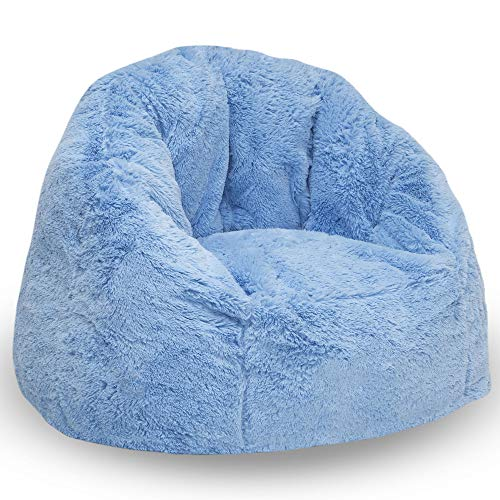 Delta Children Snuggle Foam Filled Chair, Kid Size (for Kids Up to 10 Year Old), Blue