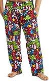 Marvel Pijama Hombre, Pantalones Largos de Pijama para Hombres Avengers, con Iron Man Capitan America Hulk y Thor, Ropa de Dormir 100% Algodon, Regalos Originales para Hombres (L)