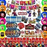 CYSJ 71 PCS Game Party Supplies Vajilla De Fiesta De Cumpleaños Incluye Platos, Tazas,Mantel -Adecuado Para Fiestas De Juegos, Fiestas De Cumpleaños, Fiestas Infantiles, Etc