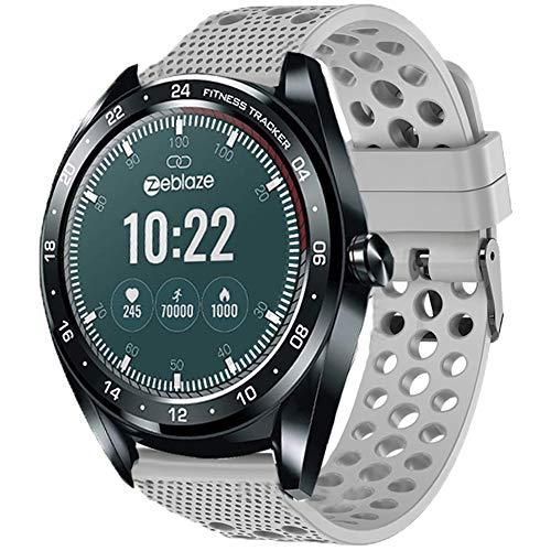 LvBu Armband Kompatibel Für Zeblaze NEO, Sport Silikon Classic Ersatz Uhrenarmband Für Zeblaze NEO Smartwatch (Grau)