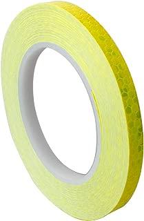 ARTGEAR Reflective Tape, 10mm × 20m Waterproof Reflector Safety Tape Reflector Warning Tape (Yellow Color)