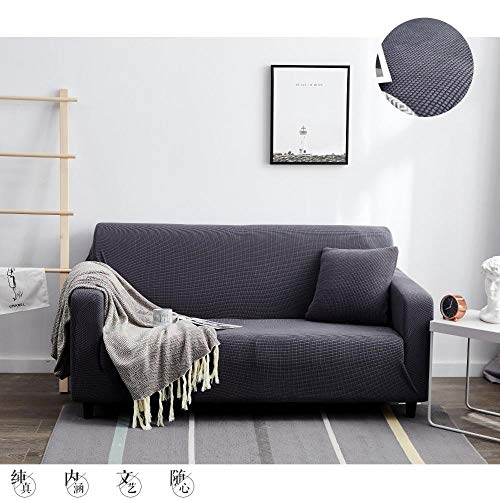 WTFYSYN Funda sofá Duplex,Funda de sofá de Franela elástica, sofá Combinado Antideslizante Todo Incluido 1 2 3 4 Asientos-Gray_4-Seat_215-275cm