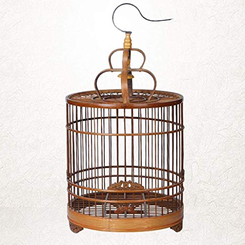 TYTZSM TZSNL Exquisite Bambus Fliegen Käfig im Freien Vogelzuchtkäfig Vogelträger Vogelkäfig Perch, Klassik Can Hang Papageienkäfig, Geeignet for Papageien/Finken/kleine Vögel 5NL09
