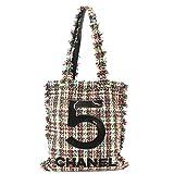 新同 シャネル CHANEL ラージ ショッピング バッグ No.5 ツイード トート バッグ マルチカラー A91557【中古】 90069991