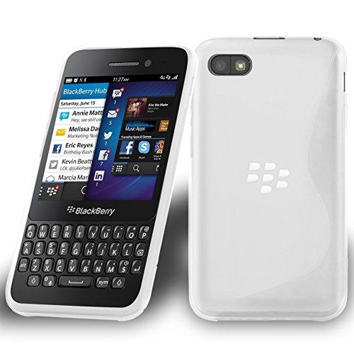 Cadorabo Hülle für BlackBerry Q5 in HALB TRANSPARENT – Handyhülle aus flexiblem TPU Silikon – Silikonhülle Schutzhülle Ultra Slim Soft Back Cover Hülle Bumper