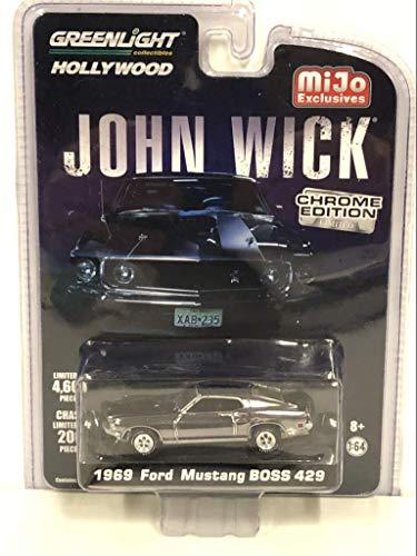 Greenlight 1969 Ford Mustang Boss 429 John Wick Chrome Edition 1:64 51228