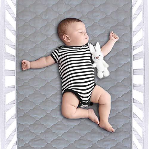 "Waterproof Crib Mattress Protector Pad 28"" x 52"",Anti Slip & Durable Waterproof Pad Mat for Baby Standard Crib/Bed Pads"