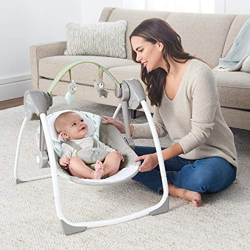 51U+TdtRyTL 10 Best Portable Baby Swings on the Market 2021 Review