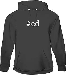 #ed - Men's Hashtag Pullover Hoodie Sweatshirt, Grey, XX-Large
