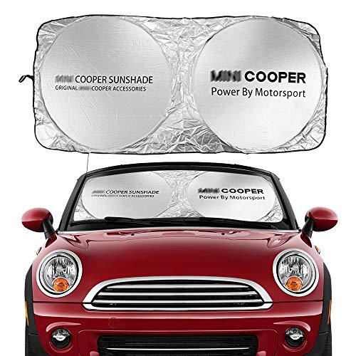 Visera Parasol del Parabrisas Windshield del Coche Windowshield Sombrillas retráctiles Cubiertas de Sol Sun Shade para Mini Cooper R55 R56 F54 F56 R59 F57 R60 R61 Accesorios Parasoles