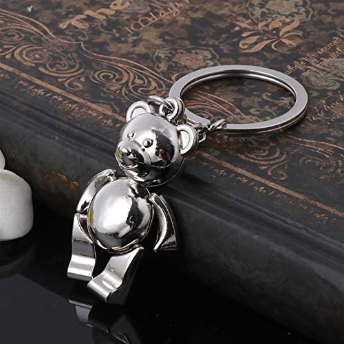 Xpccj Llavero de metal con diseño de oso móvil en 3D con diseño de animales para mujer, accesorio de metal