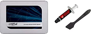 【セット買い】Crucial SSD 500GB MX500 内蔵2.5インチ 7mm (9.5mmアダプター付) 5年保証 【PlayStation4 動作確認済】 正規代理店保証品 CT500MX500SSD1/JP & ドイツ Therm...