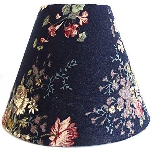 Schwarzer Shabby Lampenschirm aus Stoff/Tischleuchte/Stehlampe/Mittel
