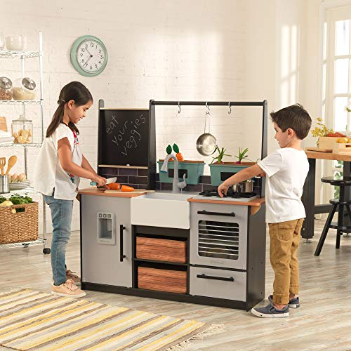 KidKraft Farm To Table Wooden Play Kitchen is a top wooden play kitchen set for kids